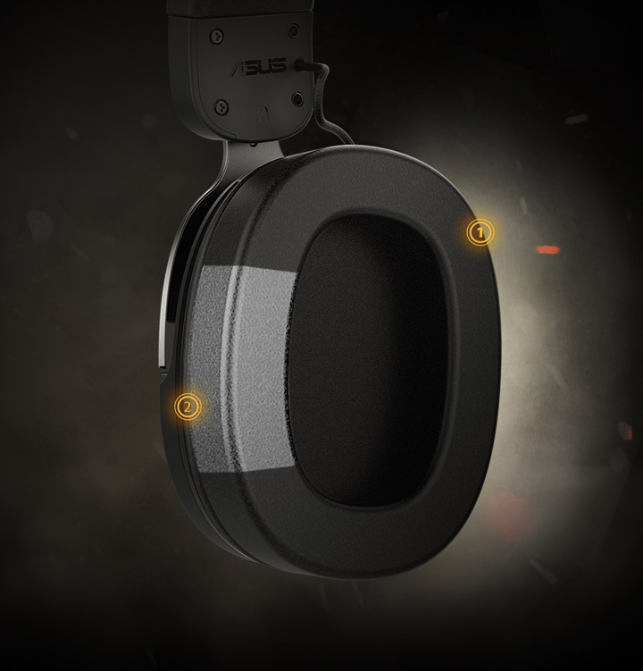 Tai nghe TUF GAMING H3 Gun Metal trang bị đệm tai rất mềm
