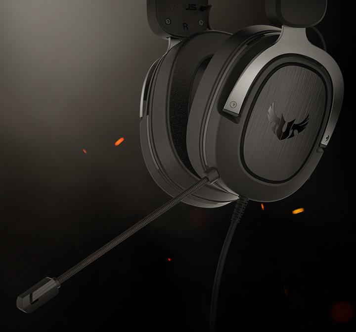 Tai nghe TUF GAMING H3 Gun Metal đi kèm mic chất lượng cao