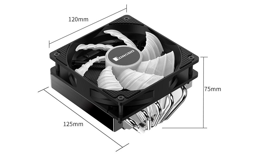 Tản nhiệt khí Jonsbo CR-701 đáp ứng khả năng giải nhiệt cho các dòng CPU cao cấp.