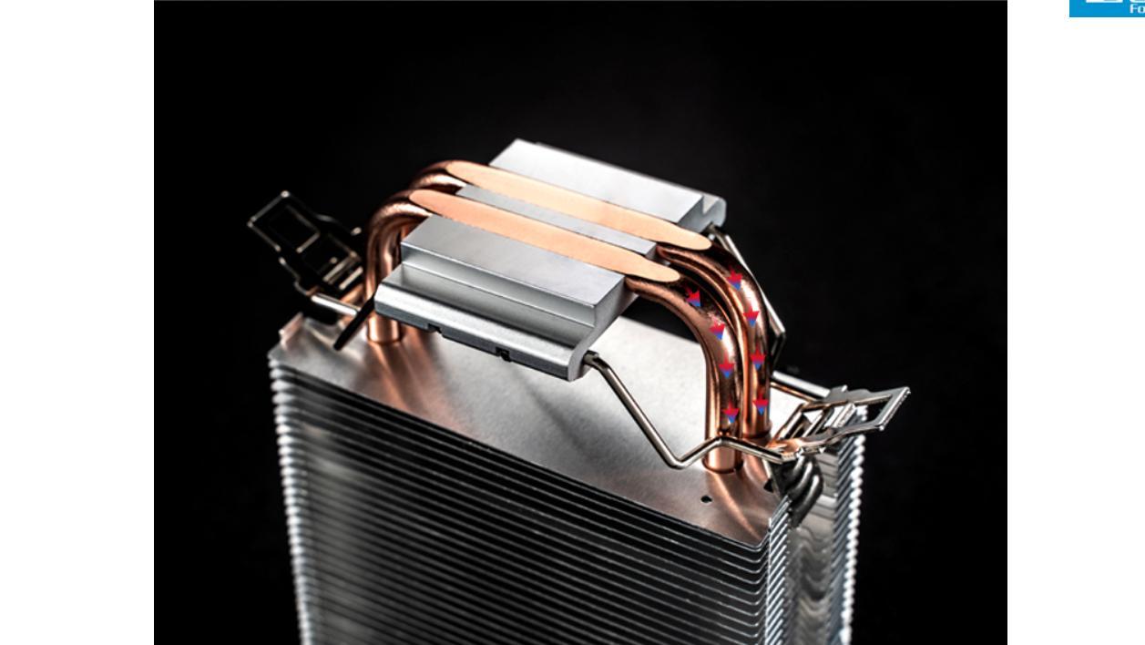 với các ống đồng tiếp xúc trực tiếp với bề mặt của CPU, cho khả năng hấp thụ nhiệt tối đa.