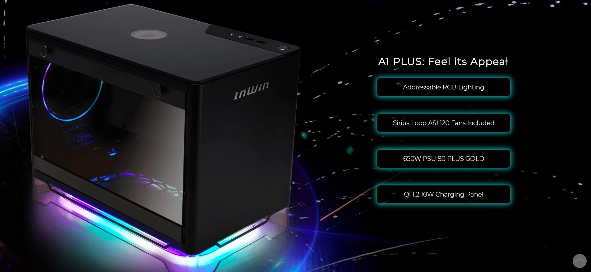 InWin A1 Plus White QI Charger - Full Side Tempered Glass Mini giới thiệu tính năng nổi bật
