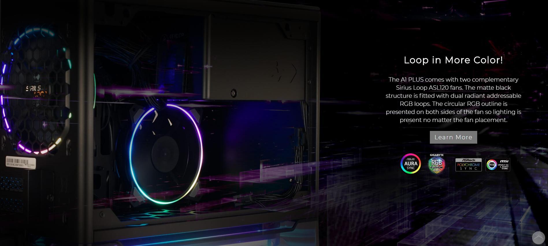 InWin A1 Plus White QI Charger - Full Side Tempered Glass Mini vòng ánh sáng tăng cường