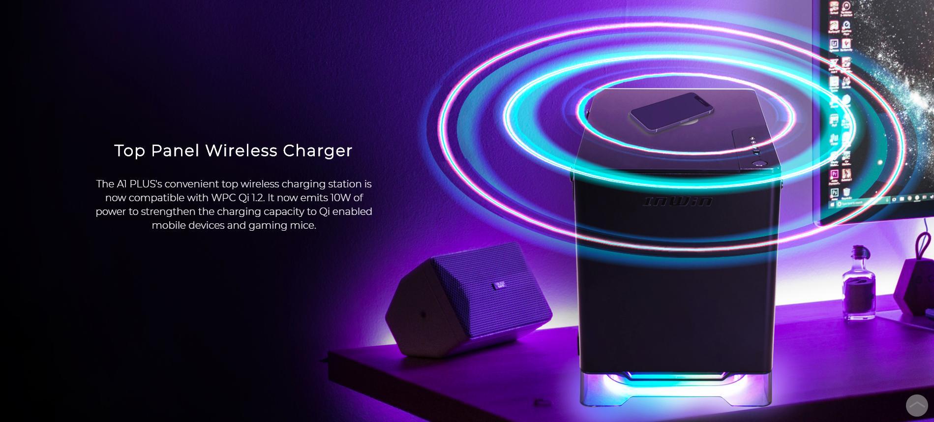 InWin A1 Plus White QI Charger - Full Side Tempered Glass Mini giới thiệu công nghệ sạc không dây