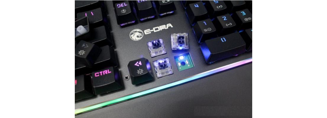 Bàn phím cơ E-Dra EK308 RGB Optical Switch USB sử dụng switch quang học siêu bền