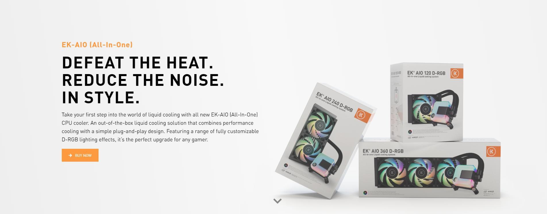 Tản nhiệt nước EK-AIO 120 D-RGB đánh bại nhiệt độ - Giảm thiểu độ ồn - Mang đến phong cách riêng