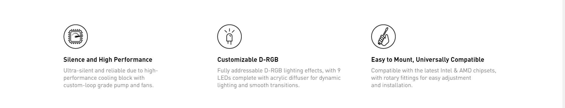 Tản nhiệt nước EK-AIO 120 D-RGB có hiệu suất cao