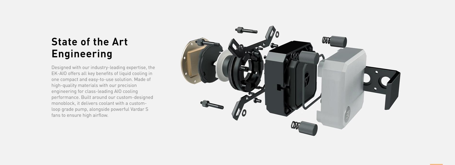 Tản nhiệt nước EK-AIO 240 D-RGB có thiết kế nhỏ gọn và dễ dàng sử dụng, lắp đặt