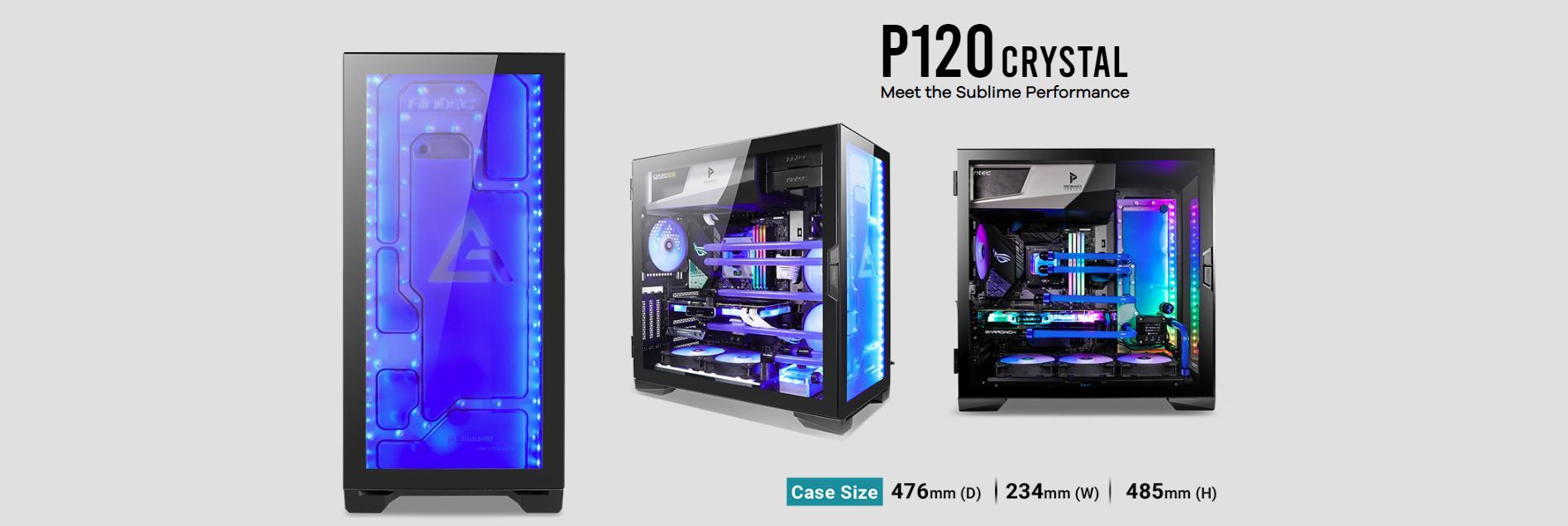 Case Antec P120 Crystal (Mid Tower / Màu Đen) giới thiệu 16