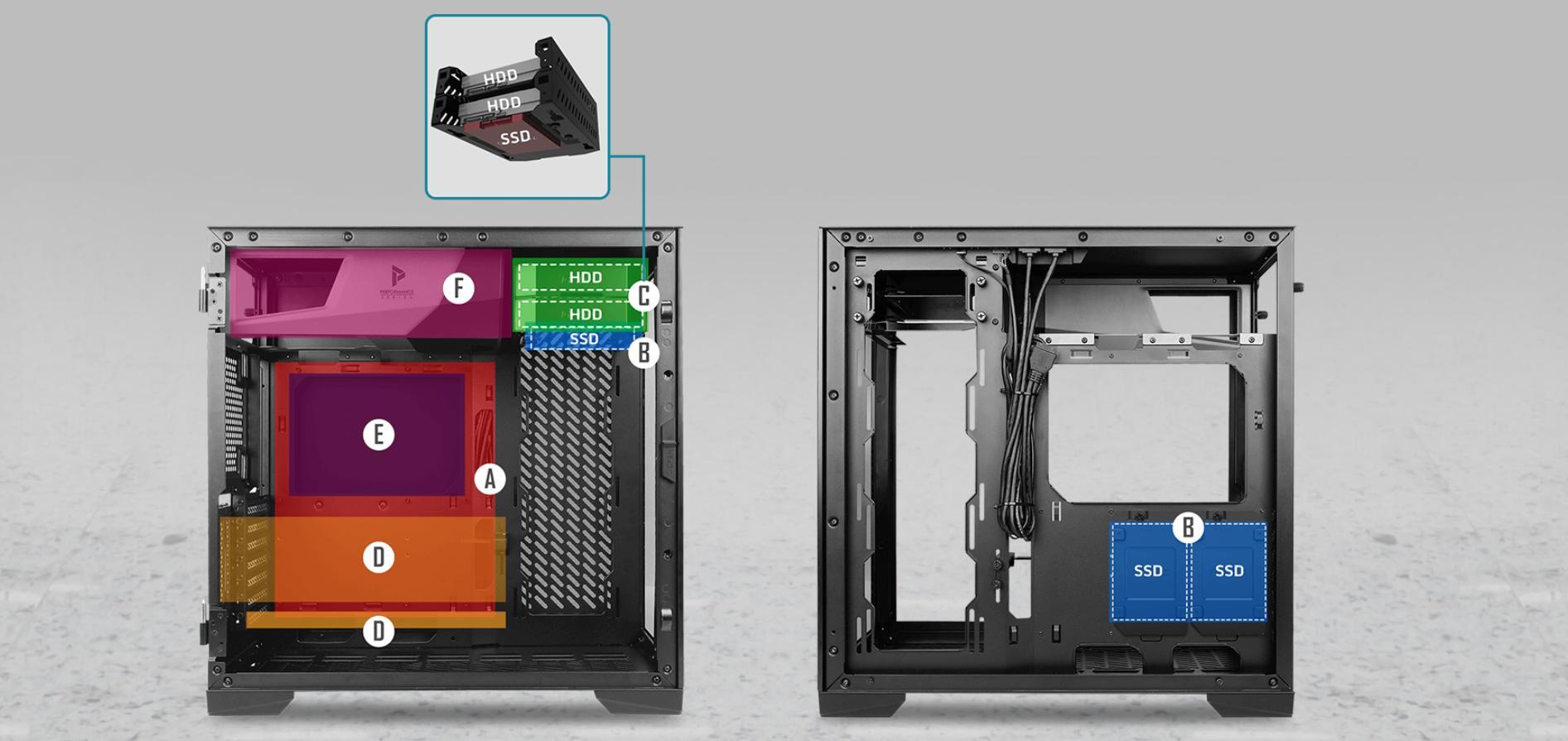 Case Antec P120 Crystal (Mid Tower / Màu Đen) giới thiệu 7