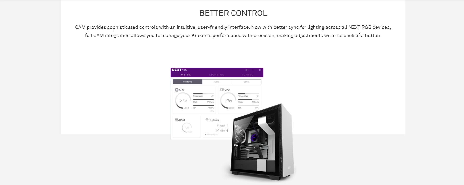 Tản nhiệt nước CPU NZXT Kraken X53 với khả năng điều khiển tốt hơn