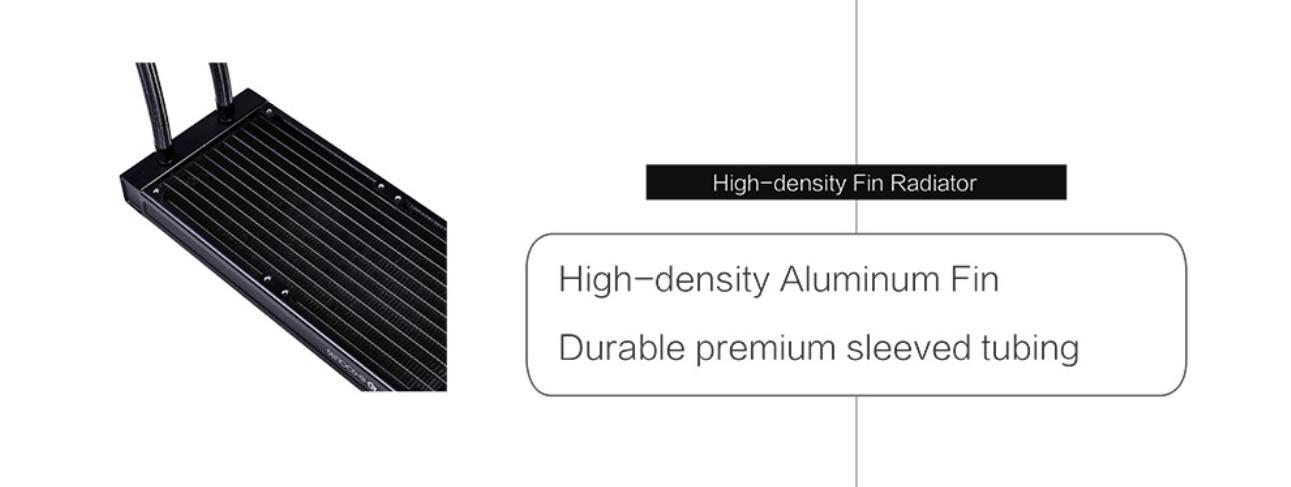 Tản Nhiệt Nước ID-Cooling ZOOMFLOW 240X ARGB với Radiator với mật độ cao, chất liệu nhôm giải nhiệt nhanh chóng