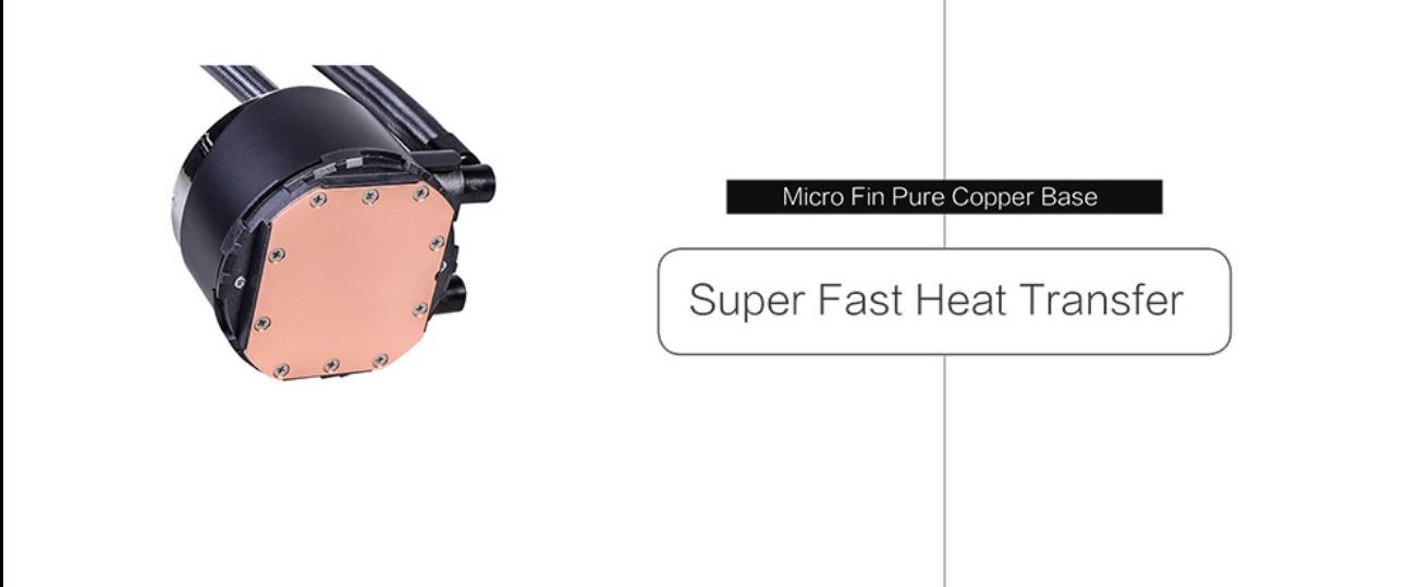 Tản Nhiệt Nước ID-Cooling ZOOMFLOW 240X ARGB với các rãnh nước bằng đồng tinh khiết cho khả năng truyền tải nhiệt siêu nhanh