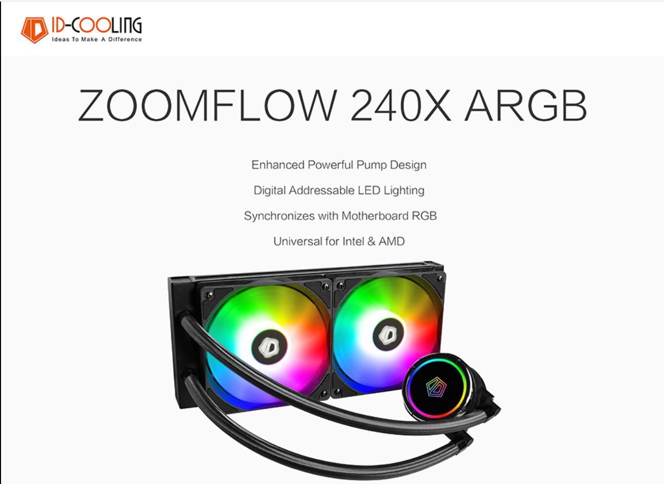 Tổng quan Tản Nhiệt Nước ID-Cooling ZOOMFLOW 240X ARGB