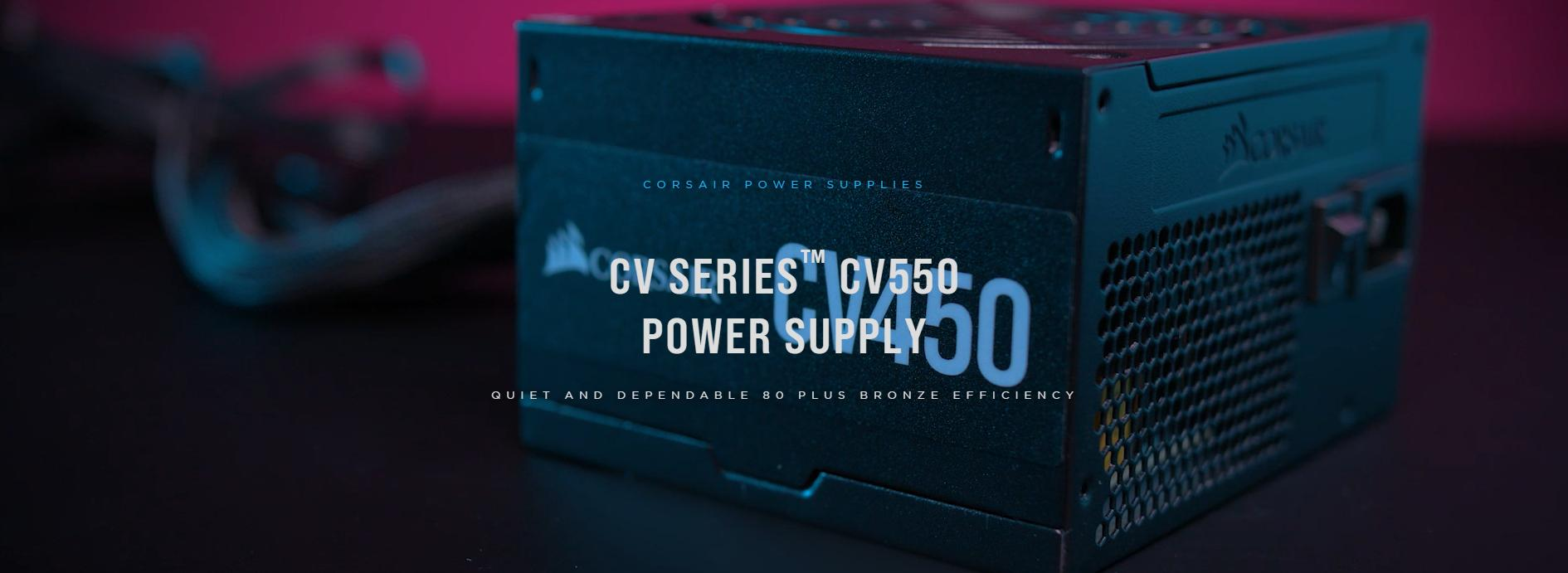 Nguồn Corsair Series CV 650 650W (80 Plus Brone/Mầu Đen) giới thiệu 1