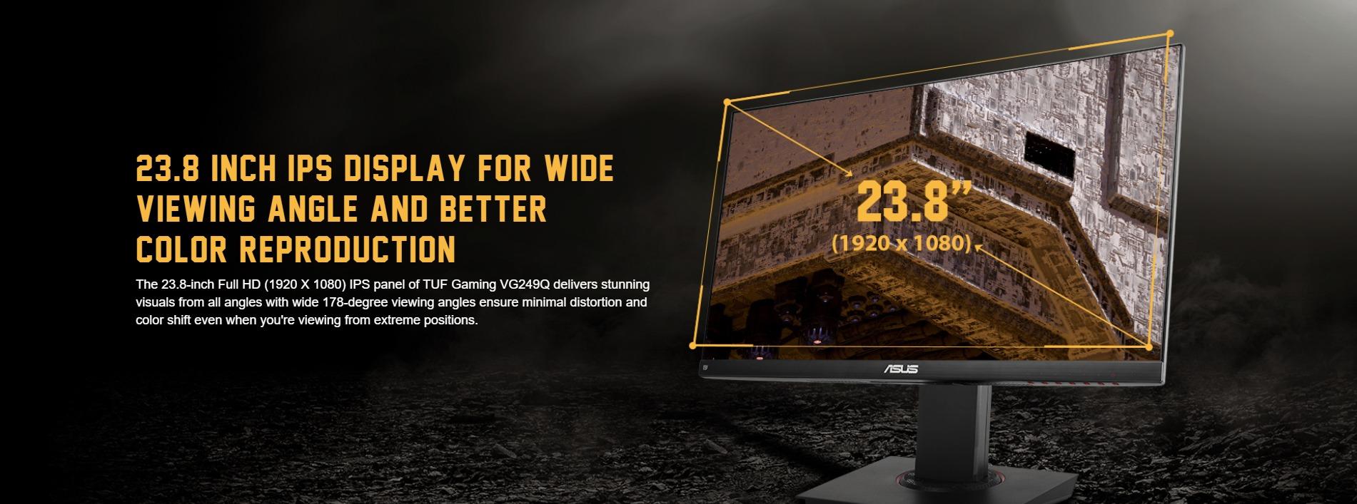 Màn hình ASUS TUF GAMING VG249Q góc nhìn rộng