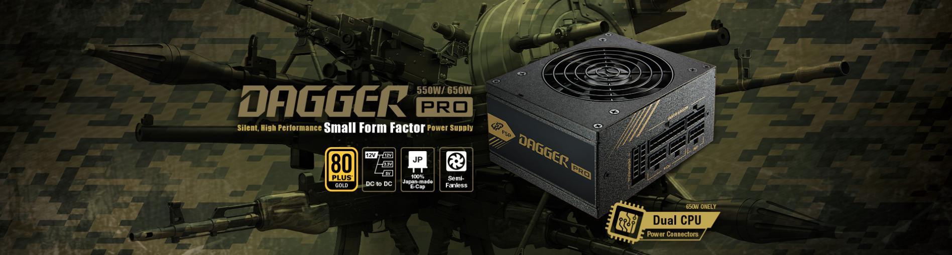 FSP Power Supply DAGGER PRO Series Model SDA2-650 - Active PFC (80 Plus Gold/Full Modular/Màu Đen/SFX) giới thiệu1