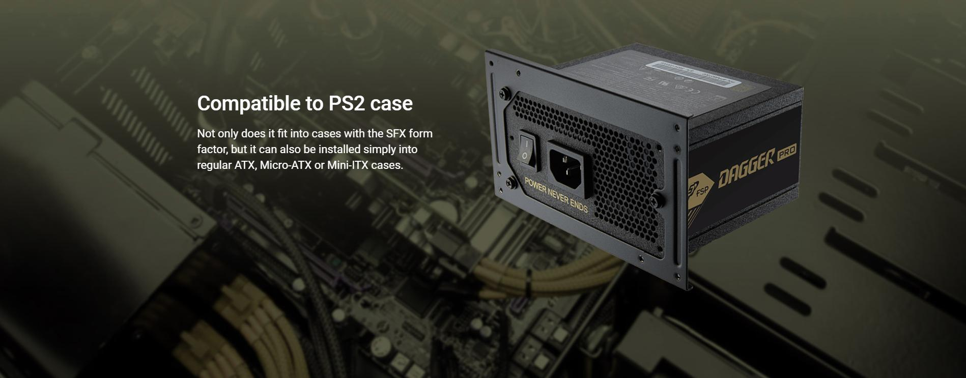 FSP Power Supply DAGGER PRO Series Model SDA2-650 - Active PFC (80 Plus Gold/Full Modular/Màu Đen/SFX) giới thiệu 7