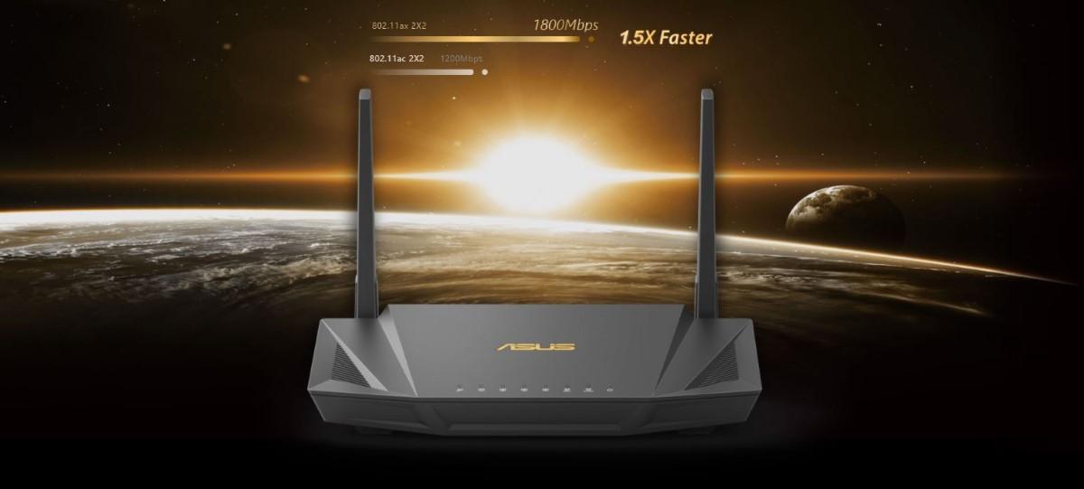 Router wifi ASUS RT-AX56U - AX1800 2 băng tần, Wifi 6 (802.11ax), AiMesh 360 WIFI Mesh, AiProtection, USB 3.1 1