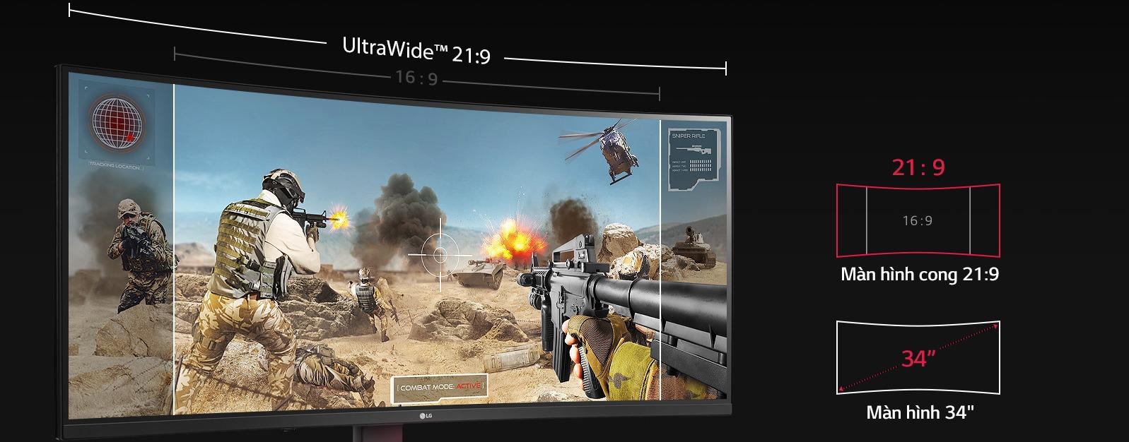 Màn hình LG 34GL750-B ultrawide