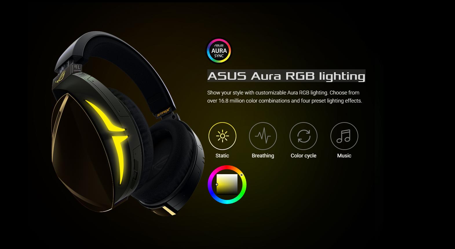 Tai nghe Bluetooth Asus ROG Strix Fusion 700 Gaming tích hợp nhiều hiệu ứng led