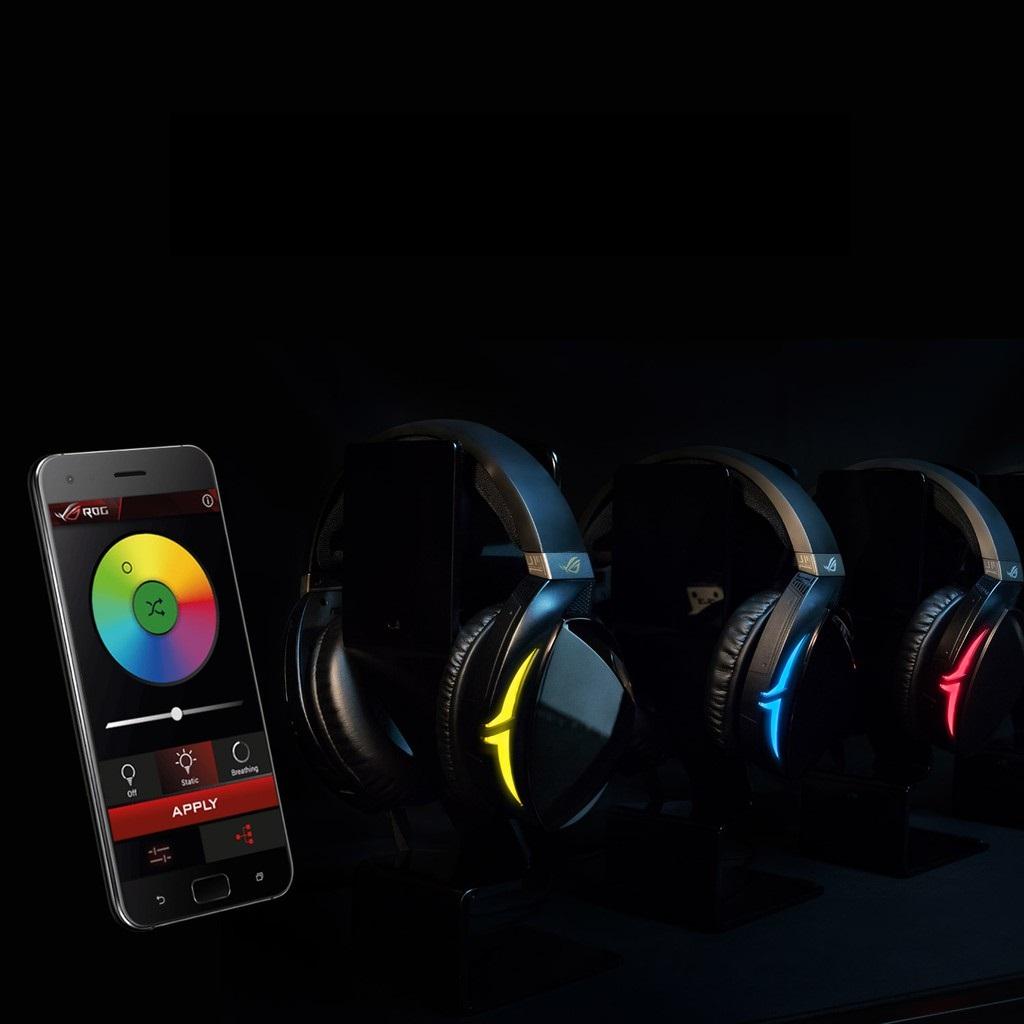 Tai nghe Bluetooth Asus ROG Strix Fusion 700 Gaming có thể đồng bộ led với nhau