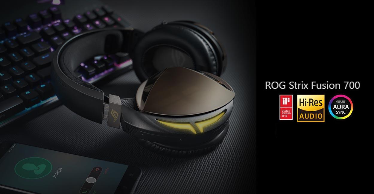 Tai nghe Bluetooth Asus ROG Strix Fusion 700 Gaming có chất lượng âm thanh cao cấp