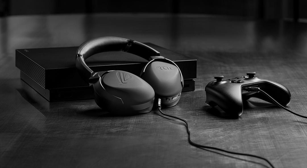 Tai nghe không dây Asus ROG STRIX GO 2.4 cũng có thể sử dụng dây khi cần thiết