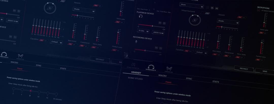 Tai nghe không dây Asus ROG STRIX GO 2.4 có thể tinh chỉnh thông qua phần mềm amoury II