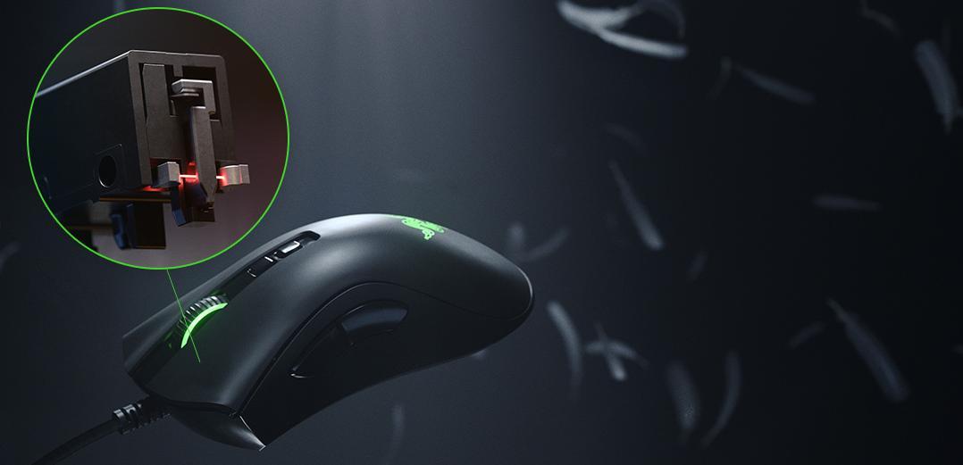 Switch quang học của Chuột Razer DeathAdder V2 RGB Gaming cho thời gian phản hồi nhanh và bền bỉ