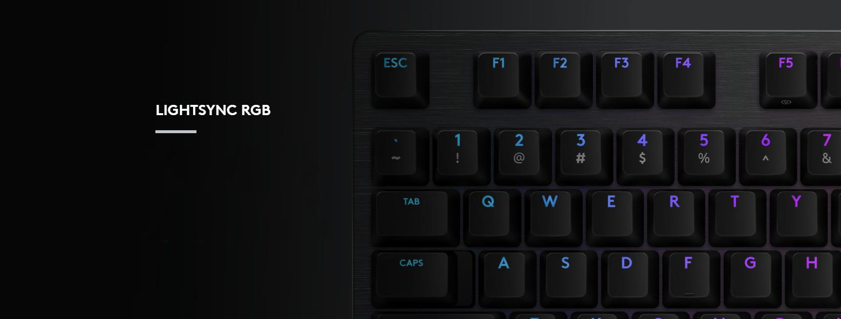 Bàn phím cơ Logitech G512 Lightsync RGB GX Blue Clicky switch tích hợp led RGB cao cấp