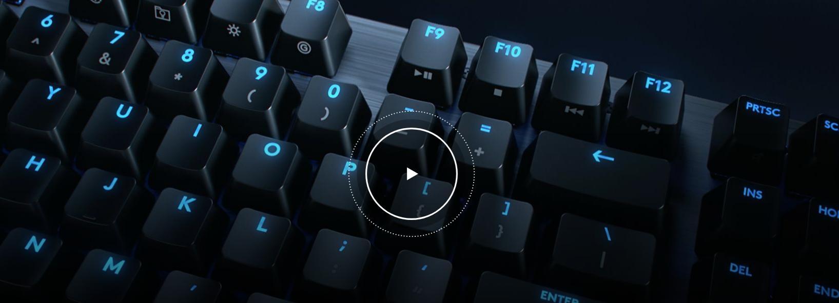 Bàn phím cơ Logitech G512 Lightsync RGB GX Blue Clicky switch 2
