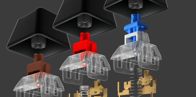 Switch của Bàn phím cơ Logitech G512 Lightsync RGB GX Blue Clicky switch