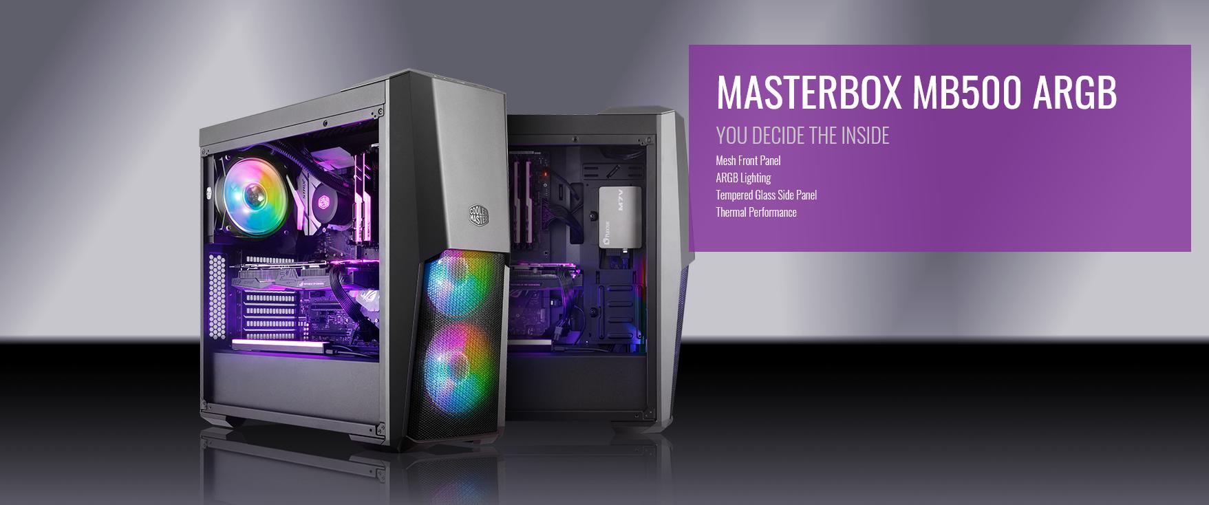Case Cooler Master MasterBox MB500 ARGB (Mid Tower/Màu đen/Led ARGB) giới thiệu