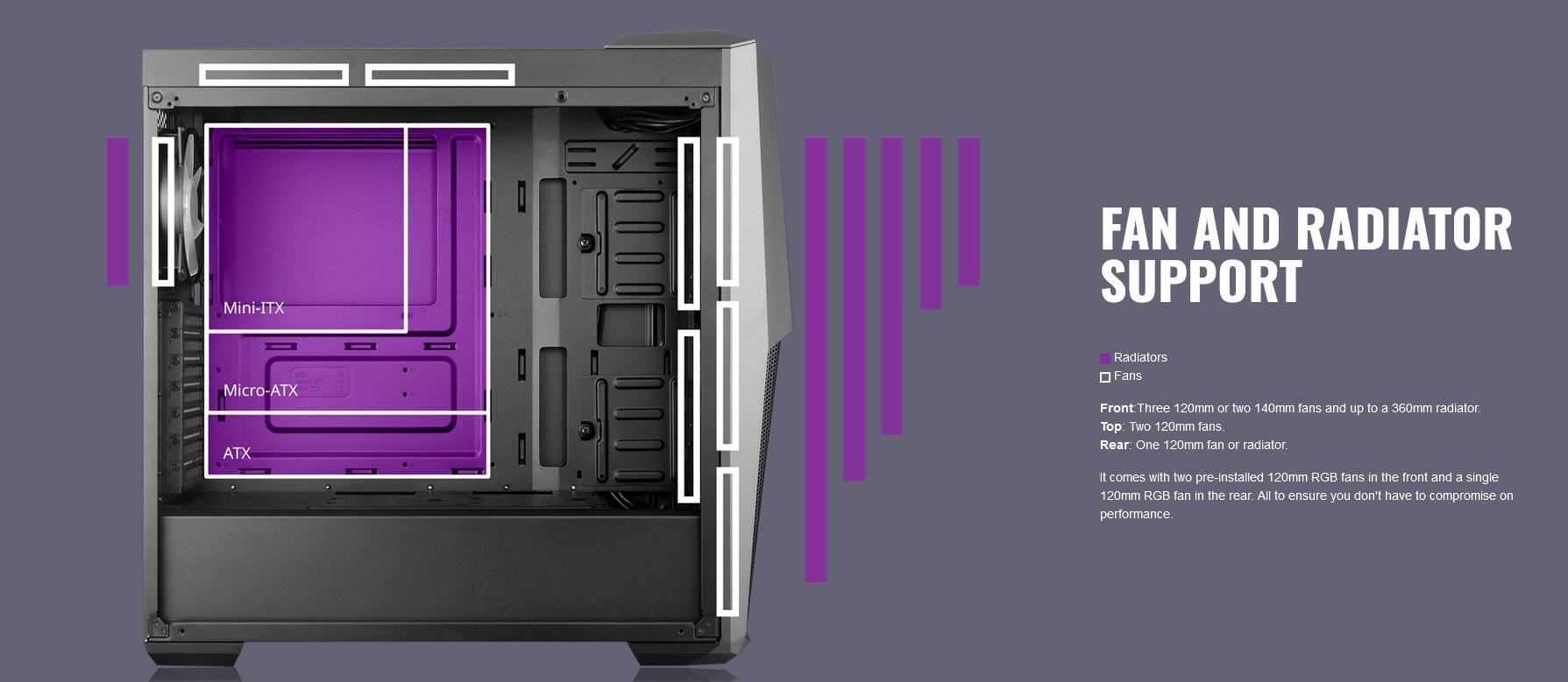 Case Cooler Master MasterBox MB500 ARGB (Mid Tower/Màu đen/Led ARGB) giới thiệu 4