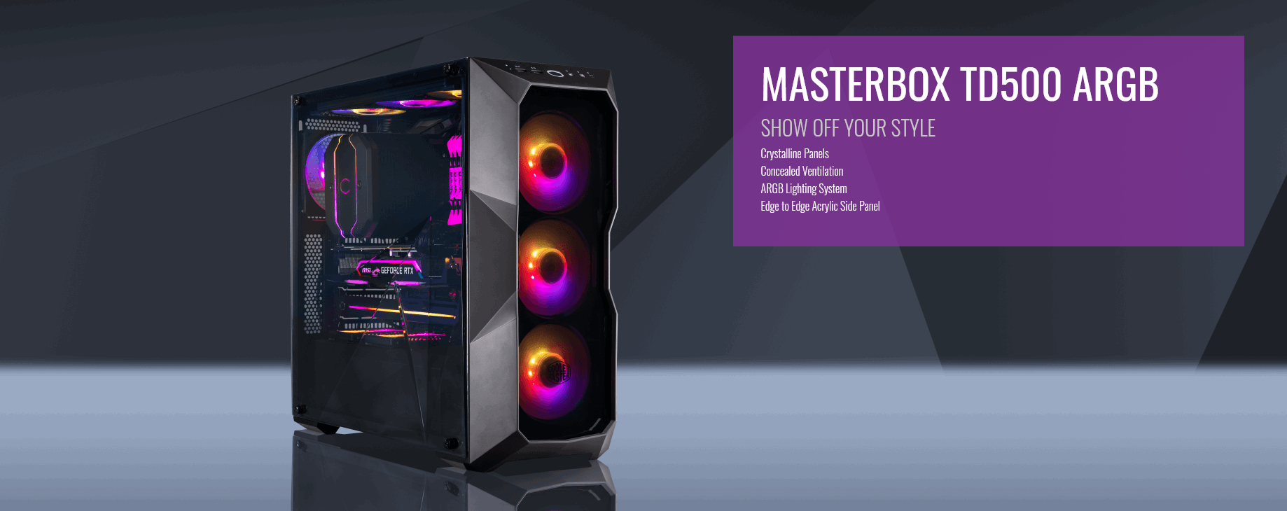 Case Cooler Master MasterBox TD500 ARGB (Mid Tower/Màu đen/Led ARGB) giới thiệu 2