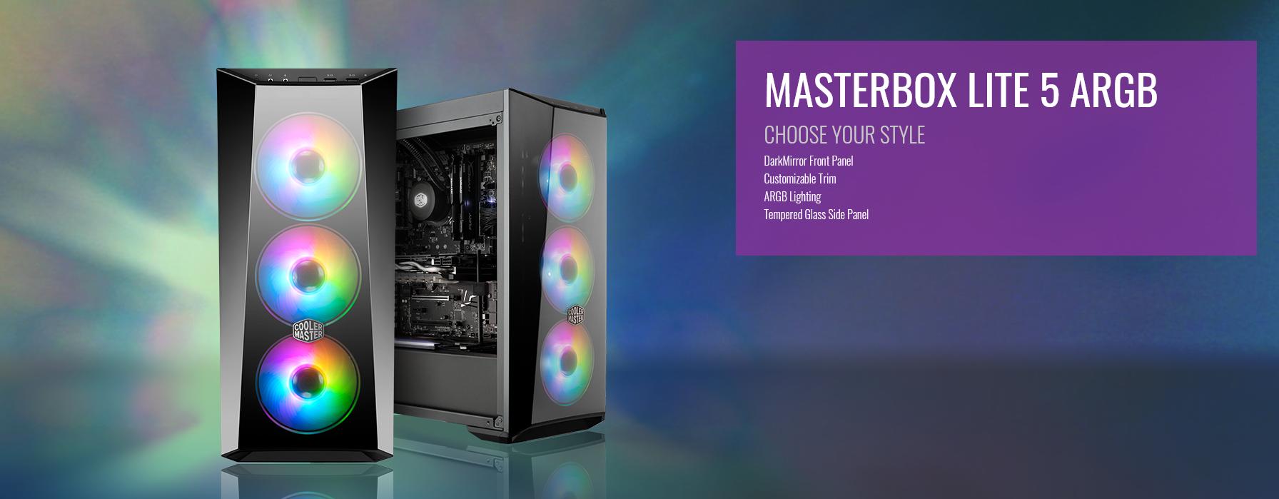 Case Cooler Master MasterBox Lite 5 ARGB (Mid Tower/Màu đen/Led ARGB giới thiệu