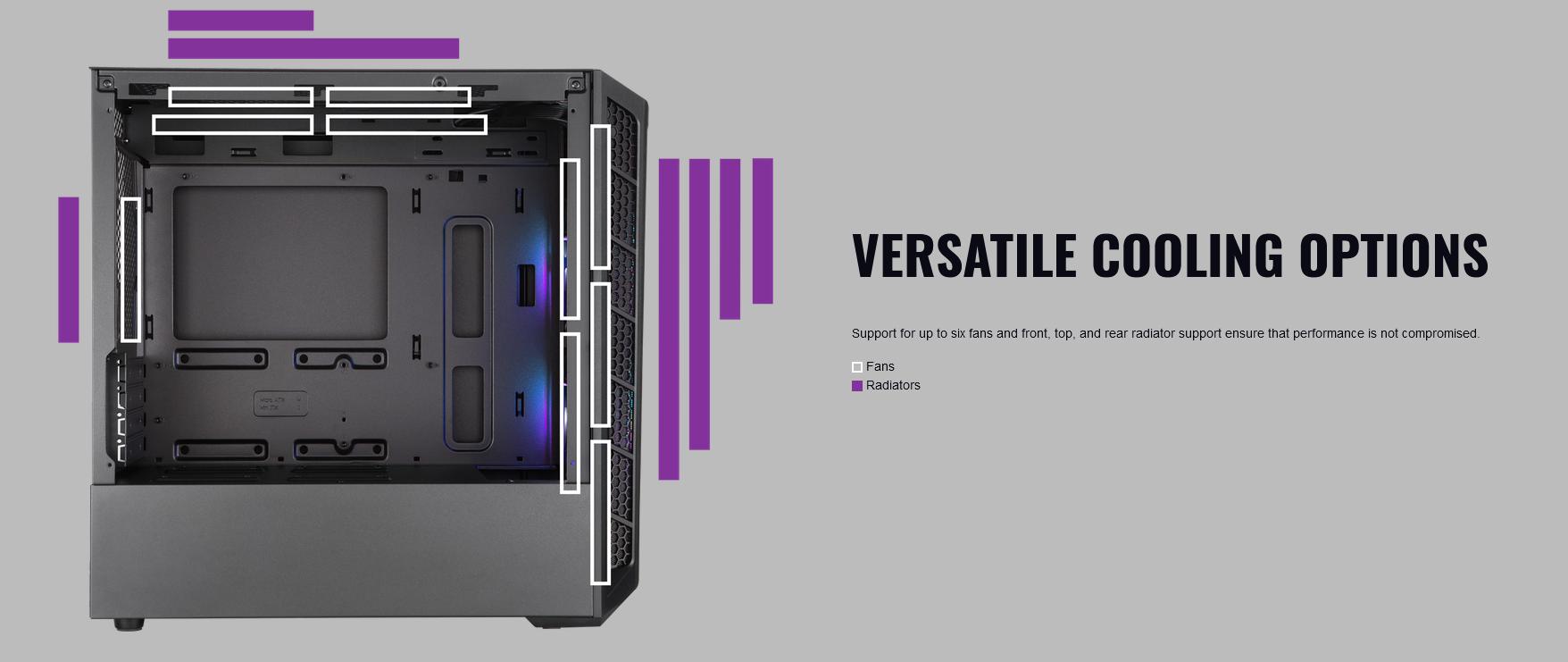Case Cooler Master MasterBox MB311L ARGB controller