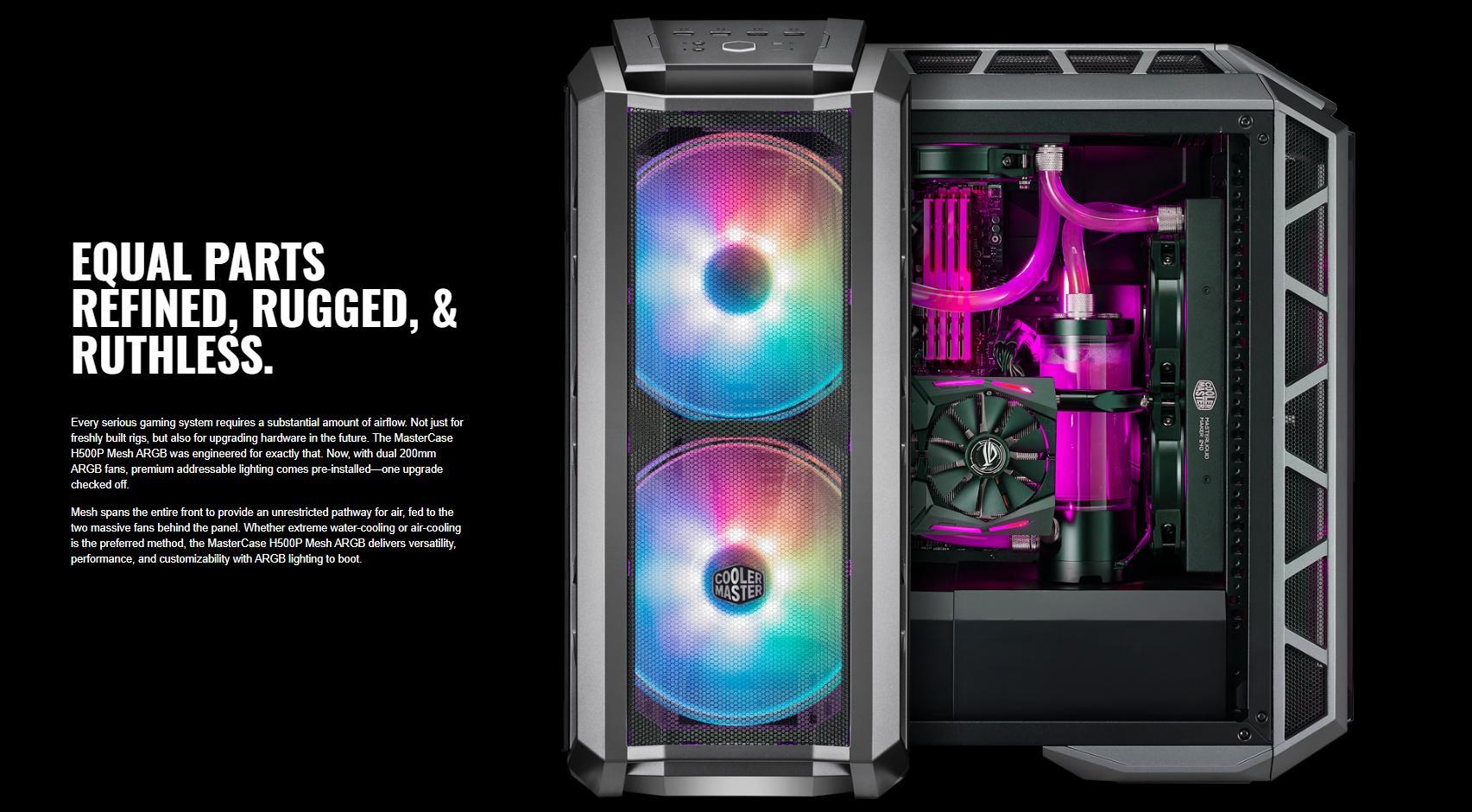 Cooler Master MasterCase H500P TG Mesh ARGB giới thiệu 3