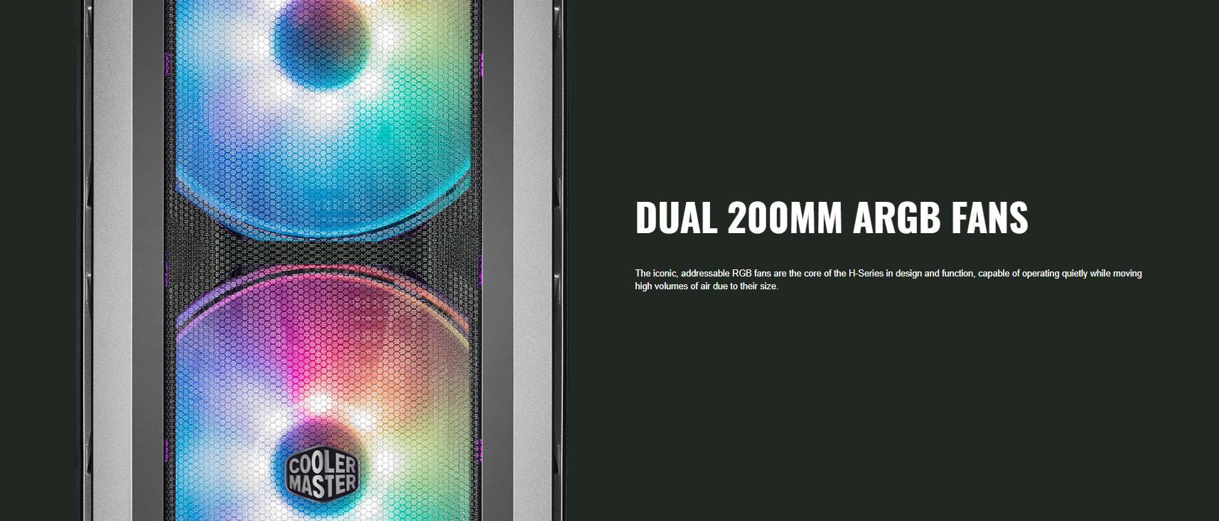 Cooler Master MasterCase H500P TG Mesh ARGB giới thiệu 4