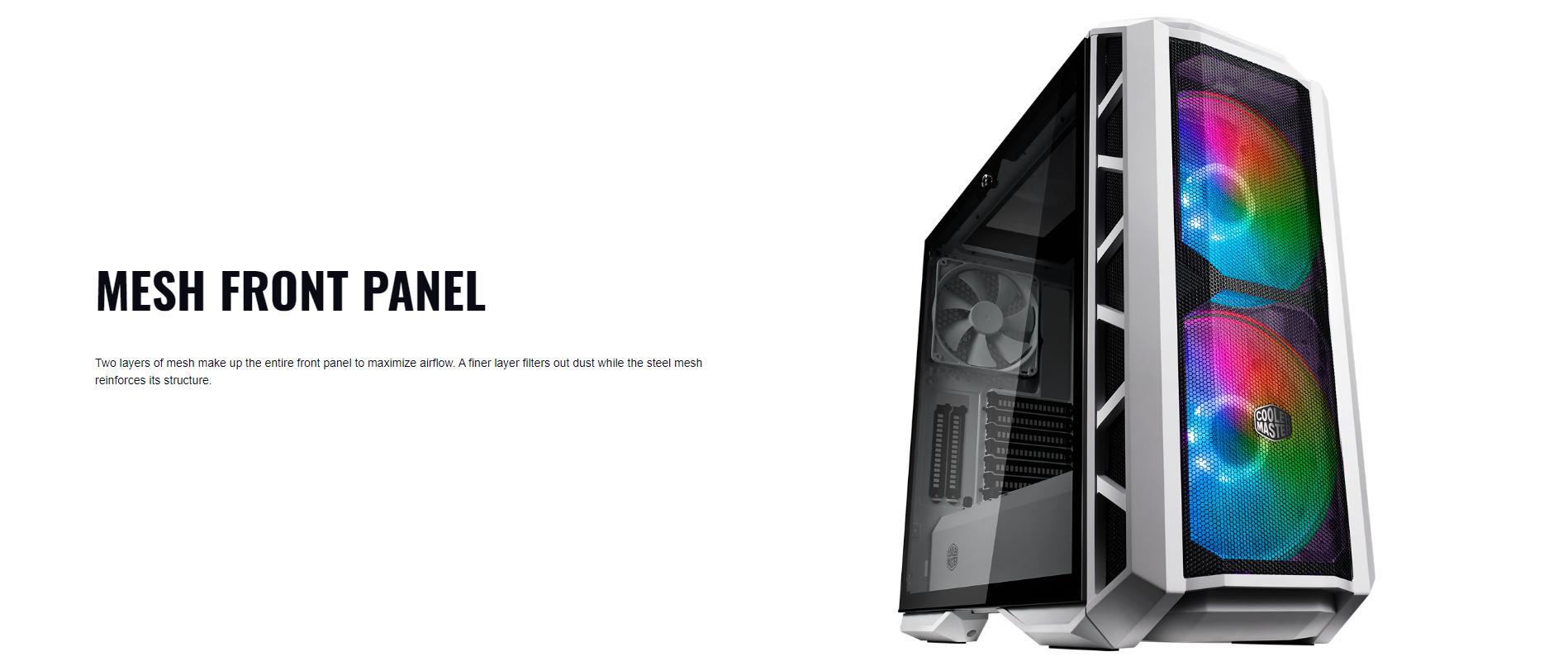 Case Cooler Master MasterCase H500P TG Mesh White ARGB (Mid Tower/Màu trắng/Led ARGB/Mặt lưới) giới thiệu 5
