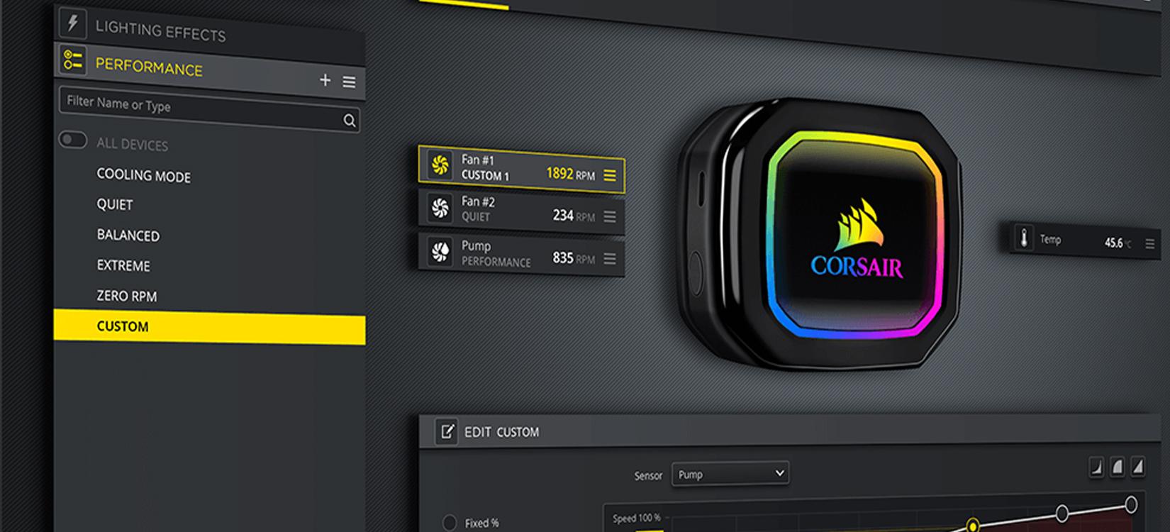 Phần mềm Tản nhiệt nước Corsair H150i RGB PRO XT ( CW-9060045-WW )