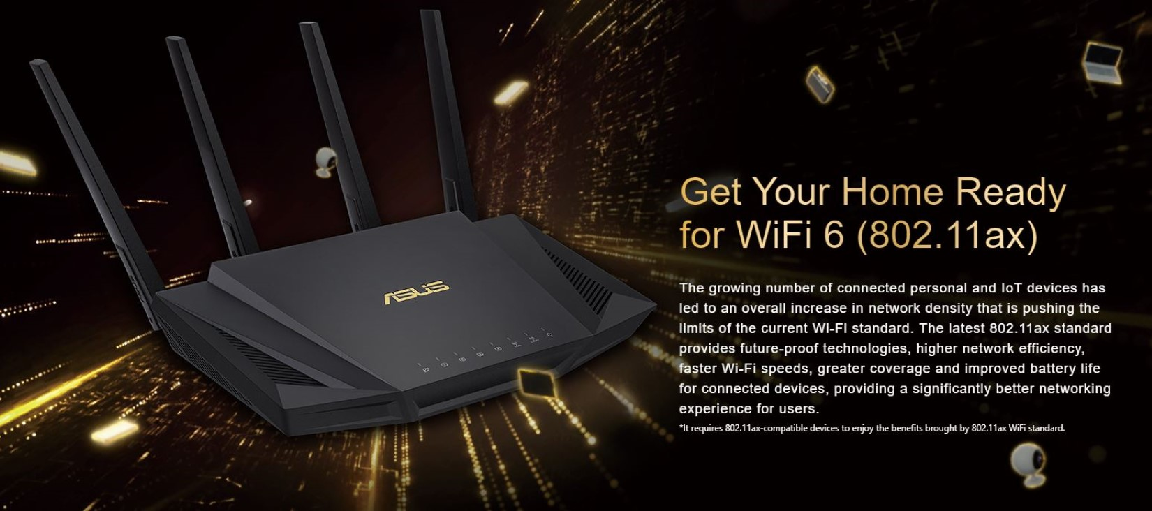 Router Gaming ASUS RT-AX58U Wifi 6 - AX3000