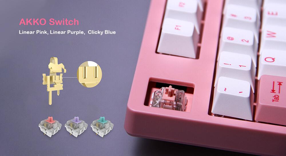 Bàn phím cơ AKKO 3087 World Tour Tokyo Blue Switch sử dụng switch Akko được phát triển bởi chính hãng