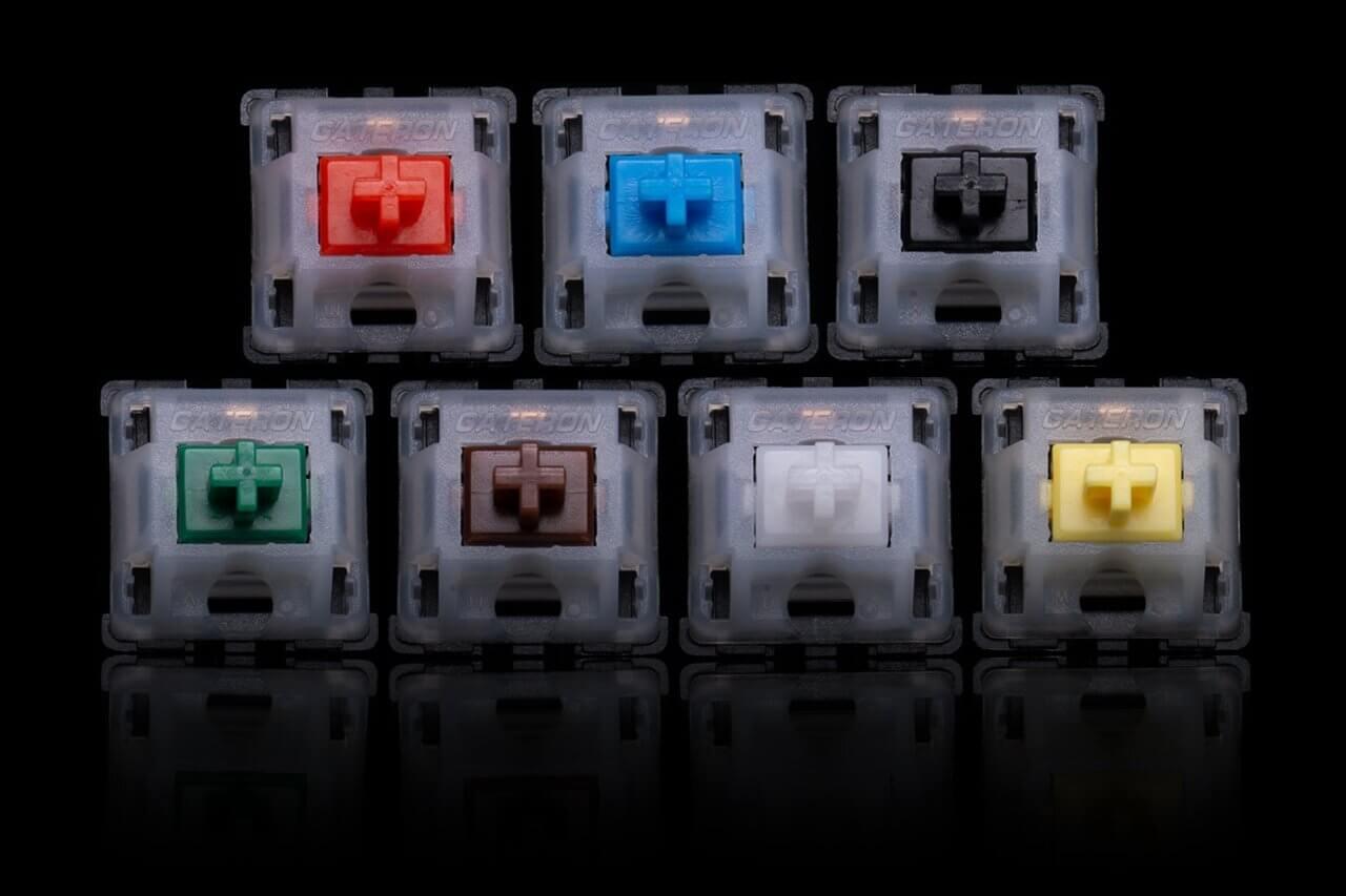 Bàn phím cơ Akko 3108 V2 OSA Grey Parrot Psittacus Gateron Yellow Switch  sử dụng Gateron Switch cho cảm giác gõ  tốt, ít sạn