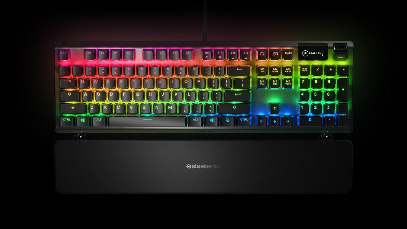 Bàn phím cơ SteelSeries APEX 5 RGB Hybrid switch Mechanical Gaming Black tích hợp đèn led RGB 16.8 triệu màu với nhiều hiệu ứng