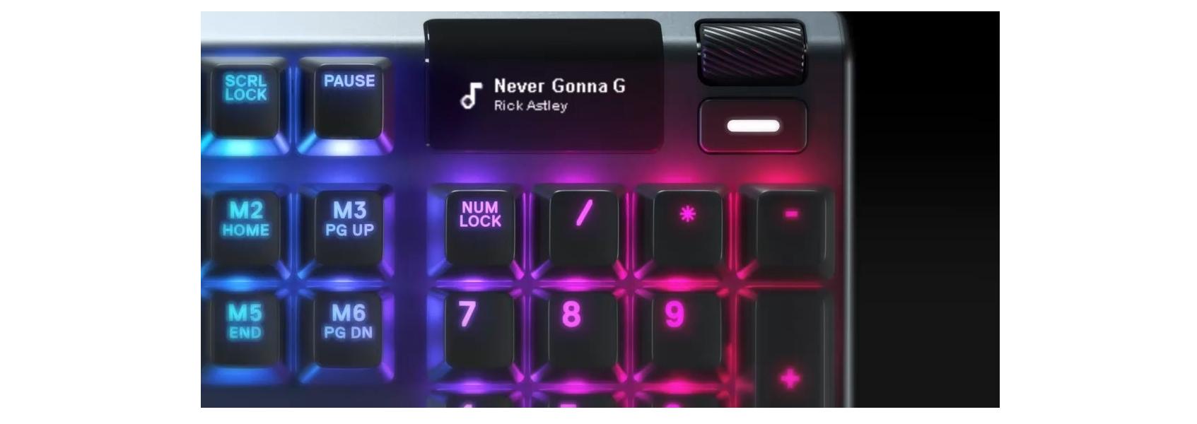 Bàn phím cơ SteelSeries APEX 5 RGB Hybrid switch Mechanical Gaming Black tích hợp màn oled tiện lợi