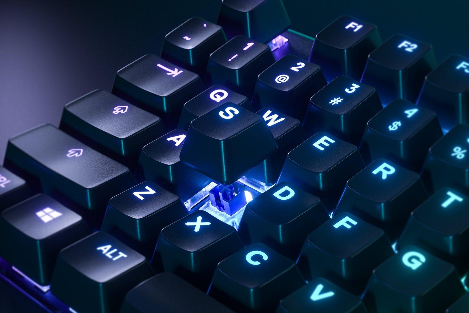 Bàn phím cơ SteelSeries APEX 5 RGB Hybrid switch Mechanical Gaming Black sử dụng switch Hybrid cho cảm giác gõ tốt