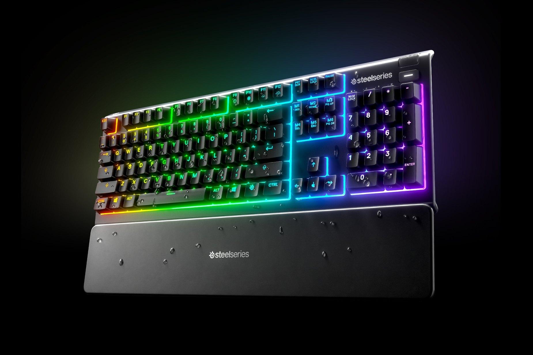 Bàn phím SteelSeries APEX 3 RGB Water Resistant Whisper-Quiet Switches Gaming Black có khả năng chống nước tốt