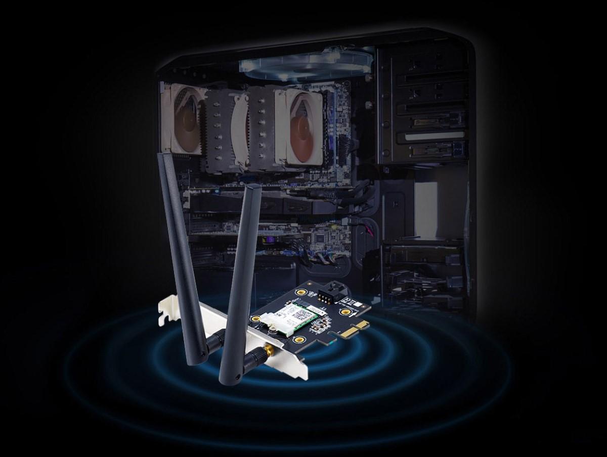 Card mạng không dây PCI Express Asus PCE-AX3000