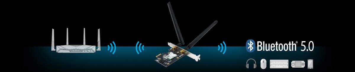 Card mạng không dây PCI Express Asus PCE-AX3000 1